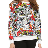 Marvel Comic Panels Girls Pullover Top