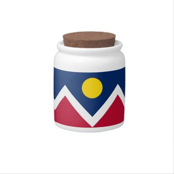 Colorado State, Denver City Flag Candy Jar