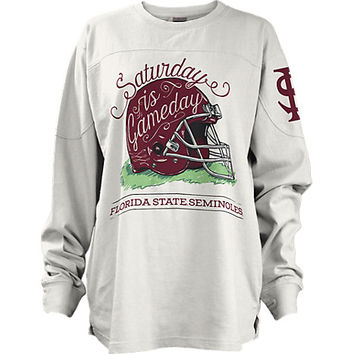 "Florida State University Women's Slim Fit ""Saturday is Gameday"" Long Sleeve T-Shirt 