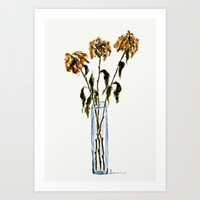 Three dried peonies Art Print by Color and Color