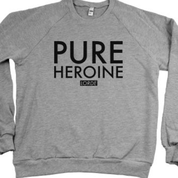 Pure Heroine Lorde Sweater-Unisex Heather Grey Sweatshirt