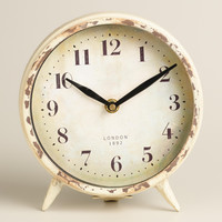 Small Ivory Charlie Clock - World Market