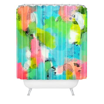 Natalie Baca Butterflies And Rainbows Shower Curtain