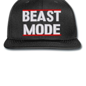 beast mode embroidery hat - Snapback Hat