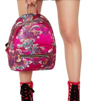 Satin Chinoiserie Backpack