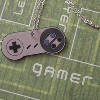 GIRL GAMER Super Nintendo Video Game Controller by PlayBox on Etsy