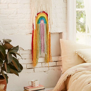 Rainbow Weave Wall Hanging - Urban Outfitters