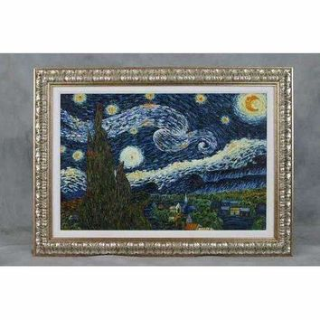 Hand Painted Reproduction of Van Gogh's Starry Night