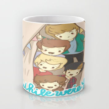 One Direction Live Like We're Young Cartoon 2 Mug by xjen94