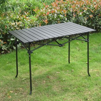 High quality outdoor folding table camping portable picnic table steel pipe aluminum alloy material durable desk  95*55*65CM