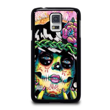 DAY OF THE DEAD SKULL GIRL Samsung Galaxy S5 Case Cover