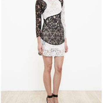 HUISHAN ZHANG | Circular Lace Dress | brownsfashion.com | The Finest Edit of Luxury Fashion | Clothes, Shoes, Bags and Accessories for Men & Women