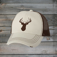 Country Girl ® Deer Head Brown Trucker Hat