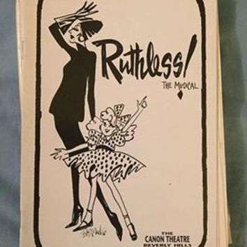 Ruthless! The Musical Playbill