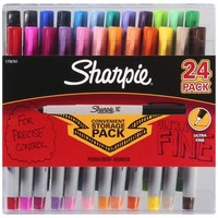 Sharpie - Permanent Markers, Ultra Fine Point,Assorted Colors,24/pk(1756761)