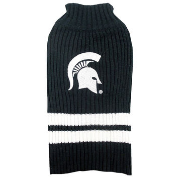 Michigan State Dog Sweater Medium