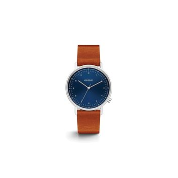 Komono - Lewis Blue Cognac  Watch /  Lenses