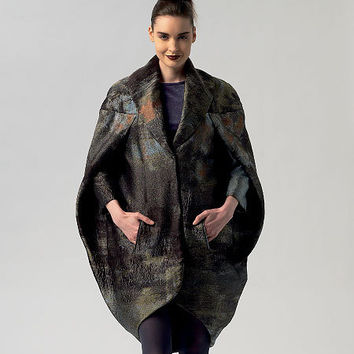 PAMELLA ROLAND Cocoon COAT Pattern Evening Day Coat Avant Garde Vogue 1419 Designer Women's Sewing Patterns Bust 30.5 31.5 32.5 34 36 UnCUT