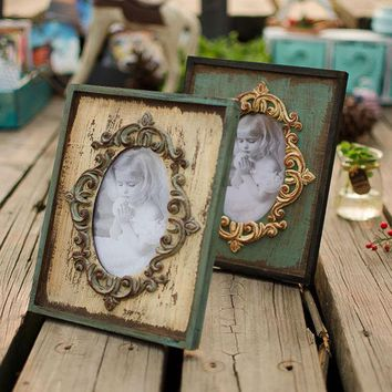 DCKL9 Wooden Weathered Creative Decoration Gifts Home Vintage Photo Frame = 5893923009
