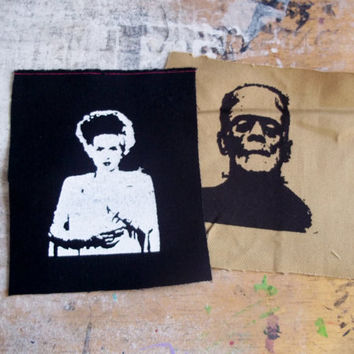 Bride and Frankensteins Monster patches