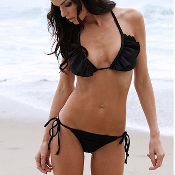 "Sun Kitten Swimwear ""Black Beauty"" Bottom"