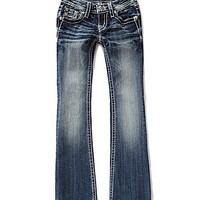 Miss Me Girls 7-16 Tribal-Pocketed Bootcut Jeans - Medium Blue