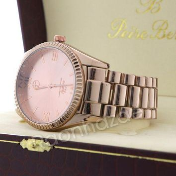 Iced Out 14k Rose Gold Watch G54