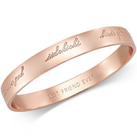 kate spade new york Rose Gold-Tone Bridesmaid Bangle Bracelet - Jewelry & Watches - Macy's