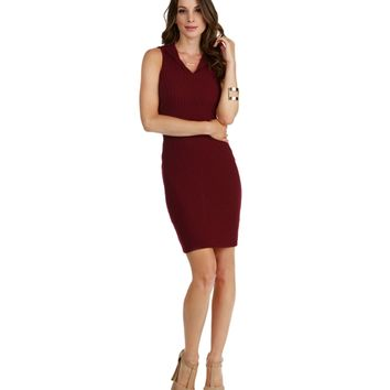 Promo- Wine Hooded Midi Dress