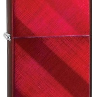 Zippo Ribbon Candy Iced Lighter (Red, 5 1/2 x 3 1/2-cm)