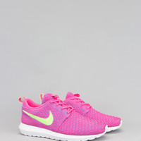 NIKE FLYKNIT ROSHERUN PINK FLASH LIME | BLENDS