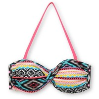 Malibu Dream Head Games Tribal Twist Bandeau Bikini Top at Zumiez : PDP