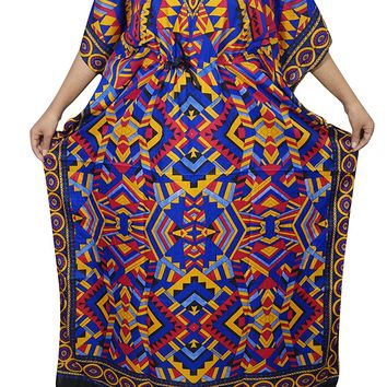Womens Kaftan Dress Long Maxi Caftan Kimono Beach Bikini Cover up Onesize: Amazon.ca: Clothing & Accessories