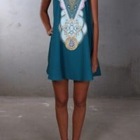 Precious Peacock Dress - Womens
