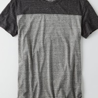 AEO Men's Colorblock Football T-shirt (Medium Heather Grey)