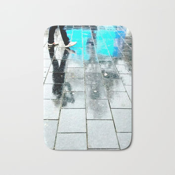 Amsterdam shoes (c) 2017 Bath Mat by Belette Le Pink