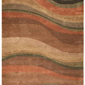 Rizzy Rugs CL-1783 3-Foot-by-5-Foot Colours Area Rug, Contemporary Rust By Rizzy Home