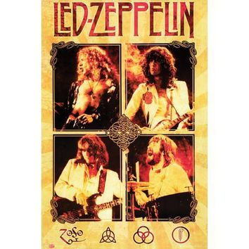 Led Zeppelin On Tour 24x36 Premium Poster