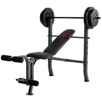Marcy Standard Bench with 80 lb Weight Set