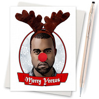 Kanye West - Yeezus - Funny Christmas Card - Illustration - Card For Wife - Card For Him - Cute Gifts For Boyfriend - Christmas Cards Yeezy