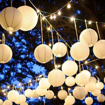 LMFONHS 10 pcs  Chinese Paper Lantern Balloon Lamp Ball Light Party Supplies Halloween Decoration CY1