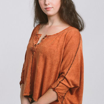 Free People First Base Henley - Copper