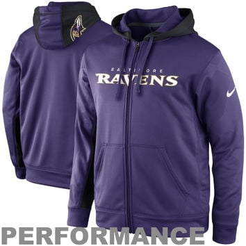Nike Baltimore Ravens KO Full Zip Performance Jacket - Purple