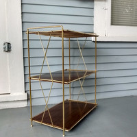 Mid Century Modern Metal Stand, Shelves, Metal Shelves, Book Shelf, Shoe Rack, Vintage, Home Decor