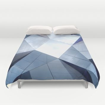 Barcelona Mirrors Duvet Cover by Xiari_photo