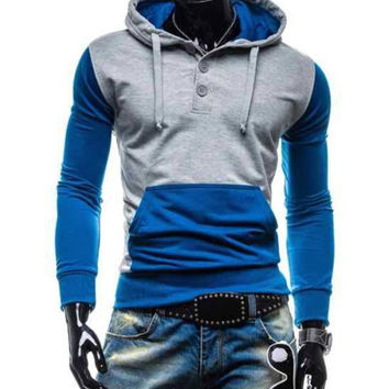 The Pismo Colorblock Hoodie Blue
