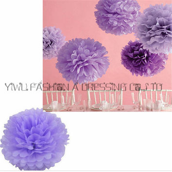 "Sales Promotion Diy 12"" 30cm 1pc Paper Flowers Kissing Ball Wedding Home Birthday Party Car Decoration Tissue Paper Pom Poms"