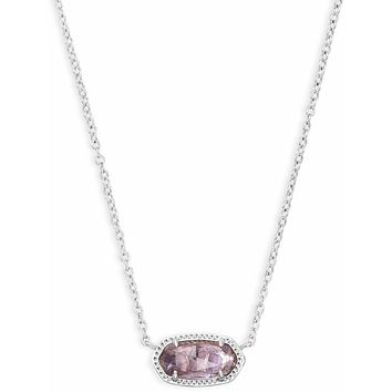 Kendra Scott: Elisa Silver Pendant Necklace In Amethyst