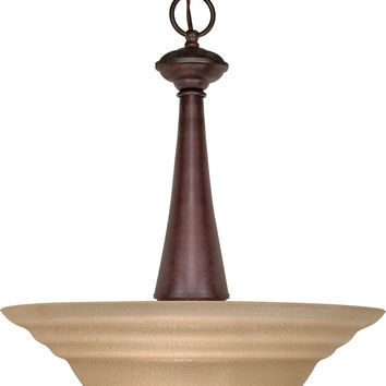 "16"" Hanging Pendant Light Fixture in Old Bronze Finish"