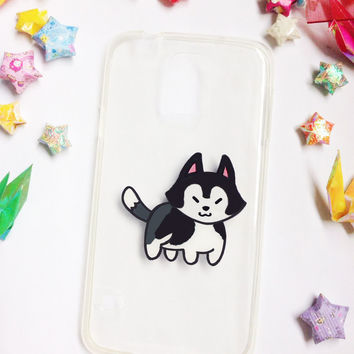 Hand painted husky phone cases, iPhone 7 Case, iPhone 6 Case, iPhone 6s Case, Samsung Galaxy S7 Edge Case, Samsung Galaxy S8 Case, Cute Case